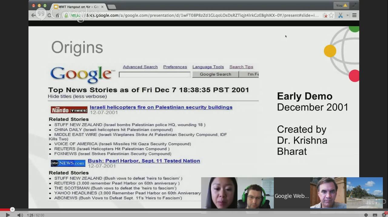 Google News: Die Anfänge