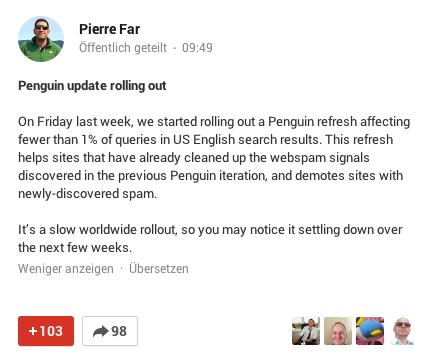 Pierre Far: Mitteilung über Penguin Refresh