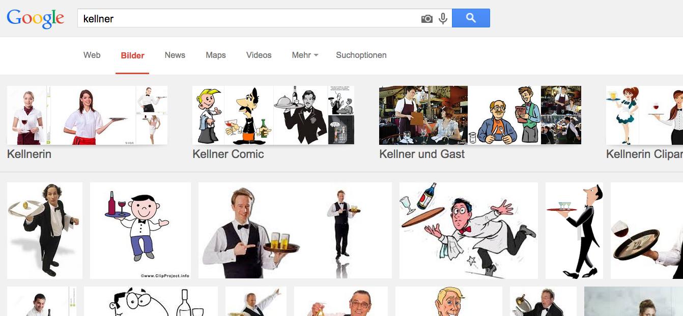 Google Bilder Suche Keywort Kellner