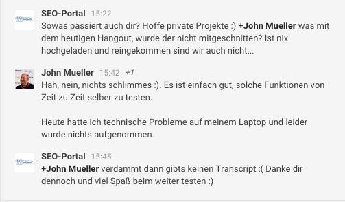 John Mueller Technische Probleme