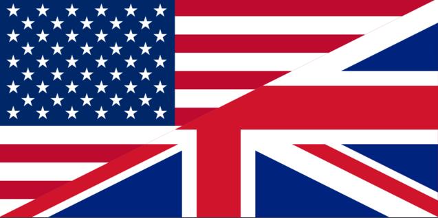 Fahne für englische Sprache