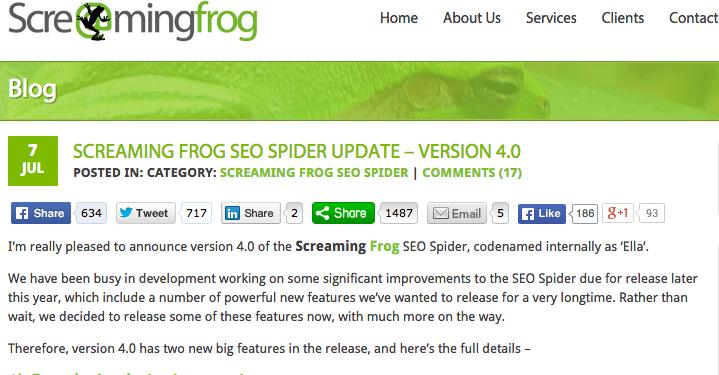 Screaming Frog 4.0