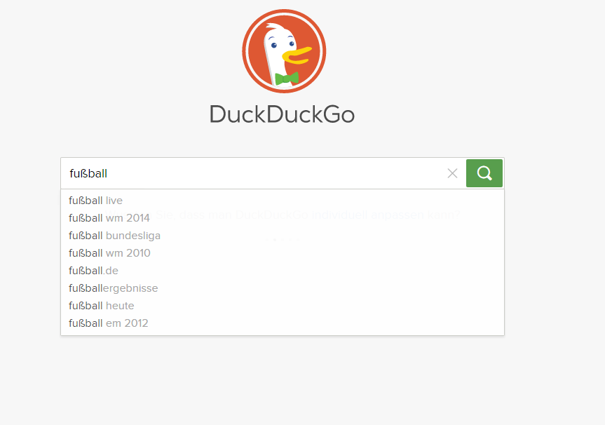duck duck go auto suggest