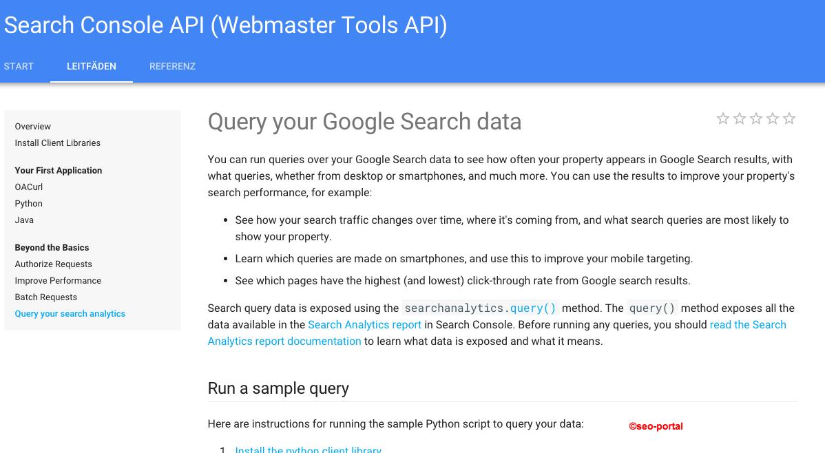 Suchanalyse API