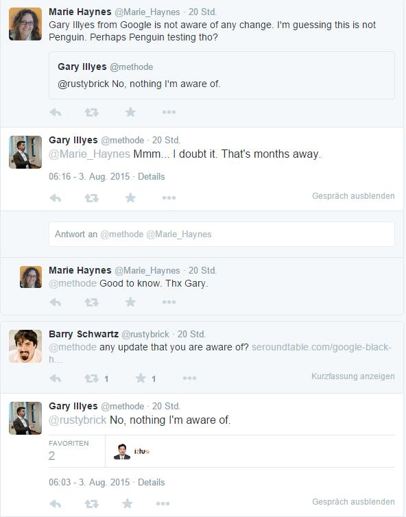 Tweets mit Antworten von Gary Illyes methode Twitter