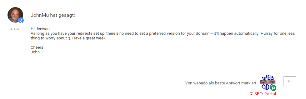 preferred domain