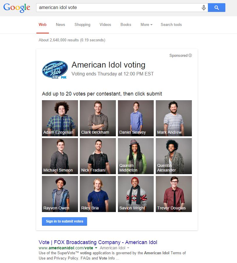 Voting eingesetzt bei A. Idol 2015