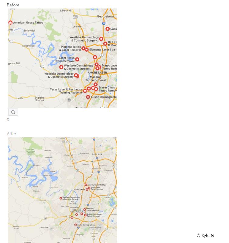 Weniger Ergebnisse Maps 2