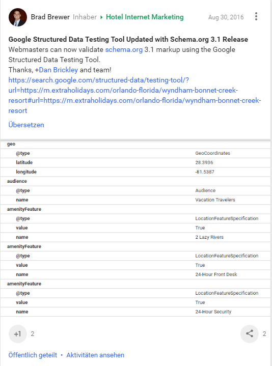 Strukturierte Daten Tool