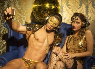 Gold disco selfie
