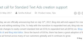 Bing Standard Text Ads