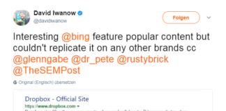 Bing Beliebte Inhalte