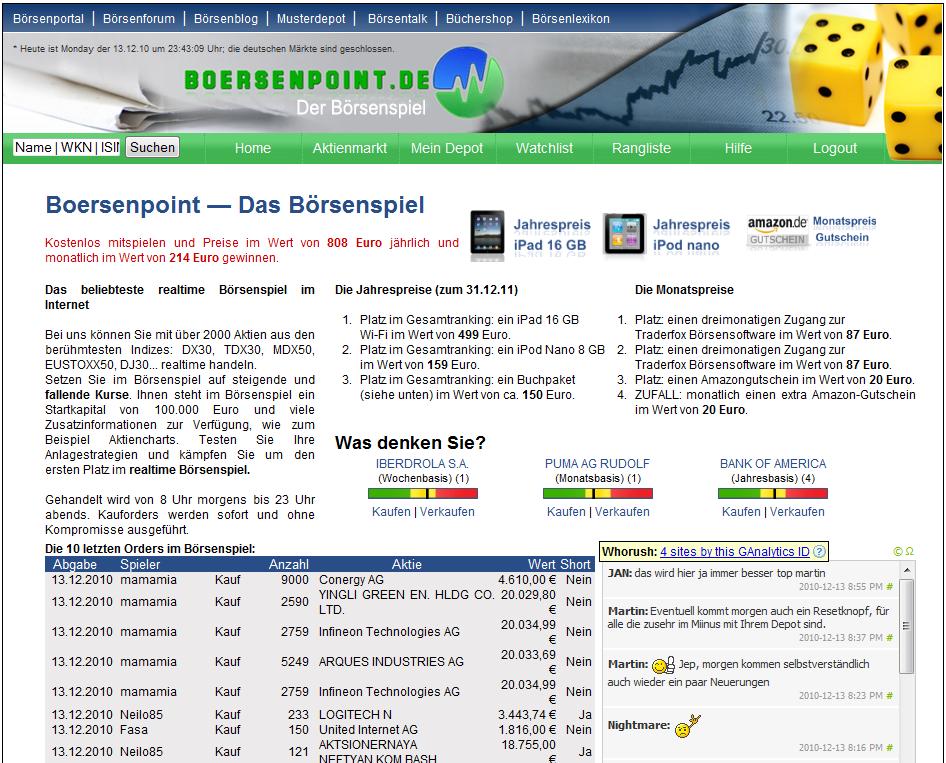 Bild Boersenpoint Börsenspiel Update 2