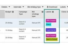 Bing Ads Label